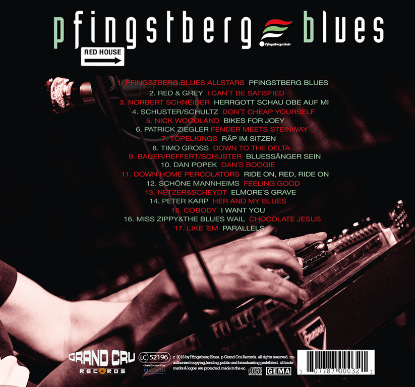 PfingstbergBlues CD Cover Album Red House